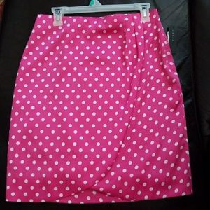 NWT pretty pink  polka dotted skirt
